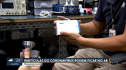 detecção de coronavirus pelo ar