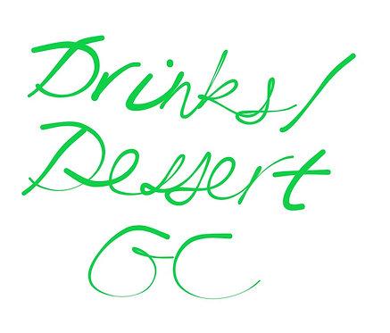 Drinks/Dessert PGC Date