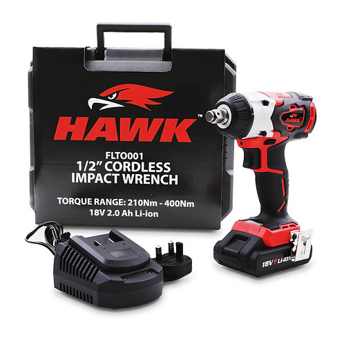 "Hawk Tools 1/2"" 350Nm 18v Impact Gun"