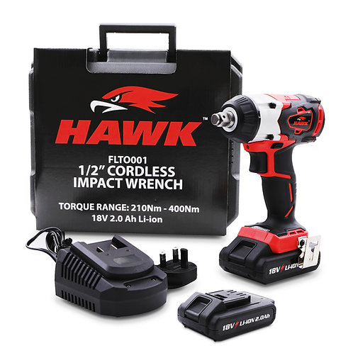 """Hawk Tools 1/2"""" 350Nm 18v Impact Gun With Spare Battery"""