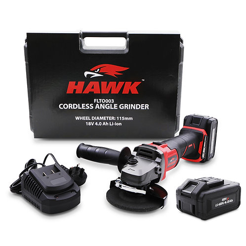 Hawk Tools 115mm 18v Brushless Angle Grinder With Spare Battery