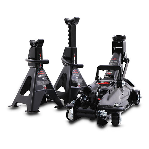 Hawk Tools 2T Heavy Duty Trolley Jack & Axle Stands Kit