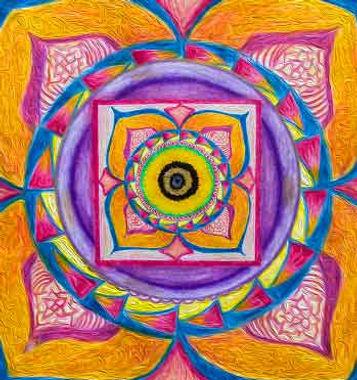 mandala, third eye, spiritual symbol