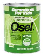 Pintura 100% Acrílica Osel Verde Siempre Limpia /Interiores