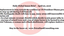 Daily Global Issues Brief - April 20, 2016 (headlines)