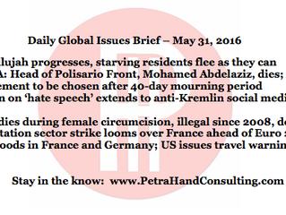 DGI Brief - May 31, 2016