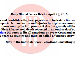 Daily Global Issues Brief - April 29, 2016 (headlines)