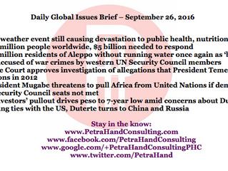 DGI Brief - Sep 26, 2016