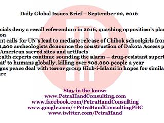 DGI Brief - Sep 22, 2016