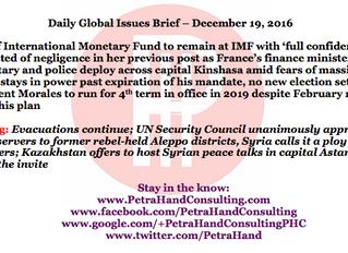 DGI Brief - Dec 19, 2016