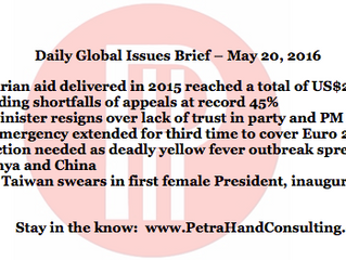DGI Brief - May 20, 2016 (headlines)