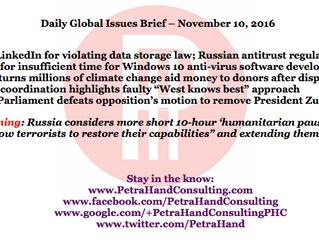 DGI Brief - Nov 10, 2016