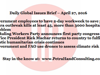 Daily Global Issues Brief - April 27, 2016 (headlines)