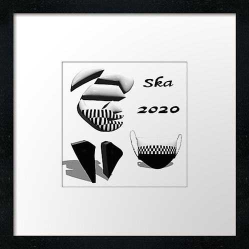 "Ska 2020 Print or canvas print Example shown is 10"" Fra"
