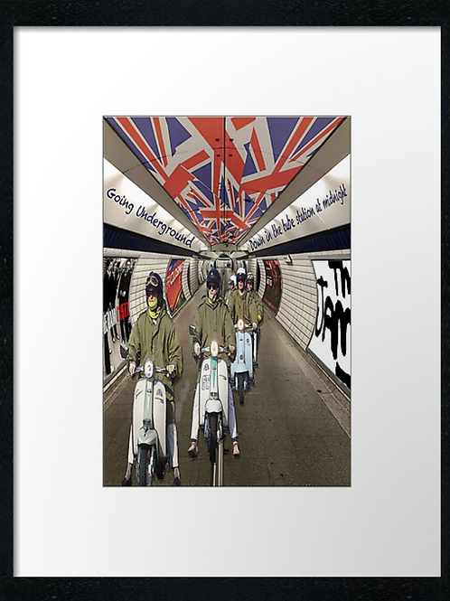 The Jam underground mods. Example shown  40cm x 30cm framed print