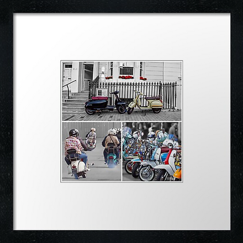 Scooters Scooter Scooters collage Effect Print or canvas print Example shown is