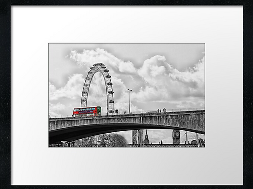 London (9) print or canvas print (example shown 40cm x 30cm framed print)