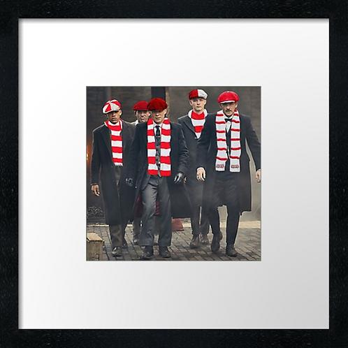 """Aberdeen FC Peaky Blinders (Example shown 10"""" Framed print £21.50)"""