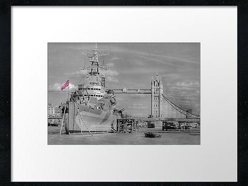 HMS Belfast print or canvas print (example shown 40cm x 30cm framed print