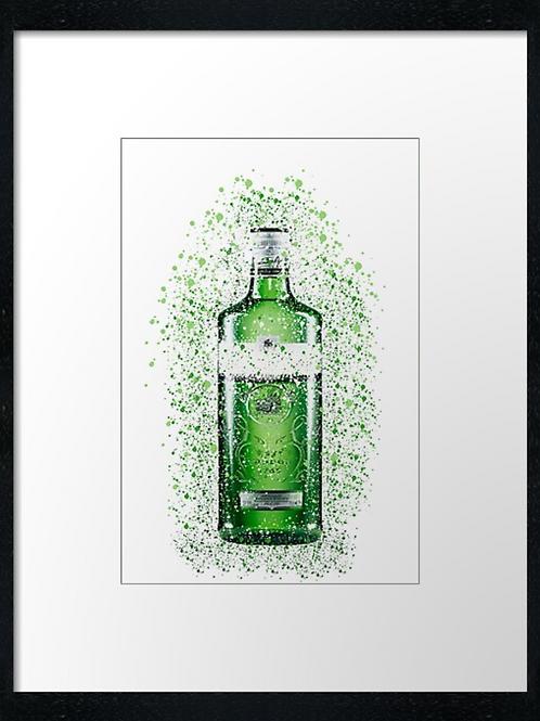 Gordons Gin Splatter,  example shown 40cm x 30cm framed print