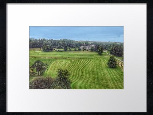 Dunecht (15) Oil paint effect  40cm x 30cm framed print or canvas pri