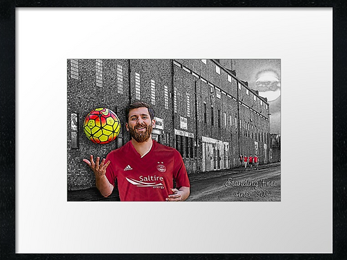Messi the Don 40cm x 30cm framed print or canvas print