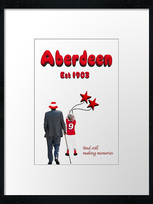 Aberdeen FC, The Generations print or canvas print