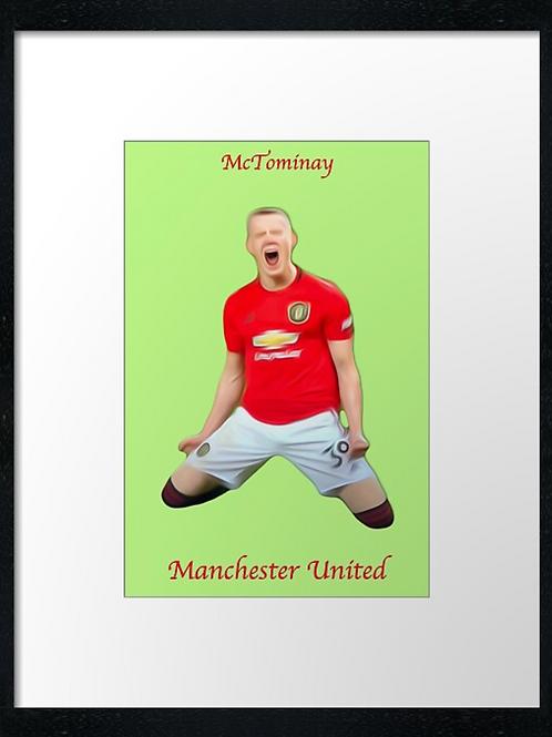 McTominay, Man United. Print or canvas print