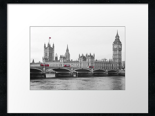 Westminster Bridge, London print or canvas print (example shown 40cm x 30cm fr