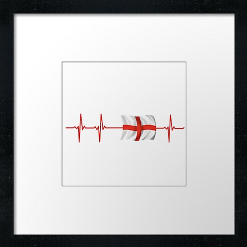 """English heart Print or canvas print Example shown is 10"""" Framed prin"""