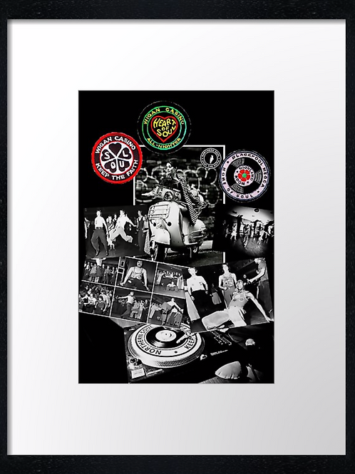 Northern Soul (2) 40cm x 30cm framed print, canvas print or A4, A3 mounted print