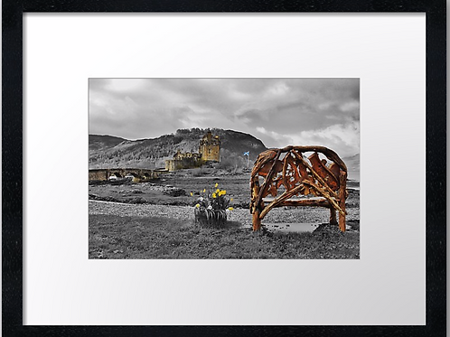 Eilean Donan castle (4) 40cm x 30cm framed print or canvas print