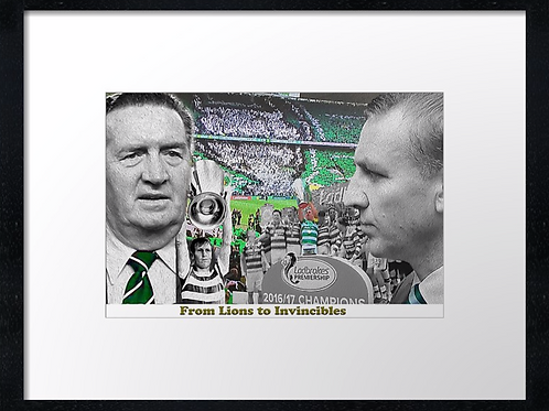 Lions to Invincibles. Example shown 40cm x 30cm framed print or canvas prin