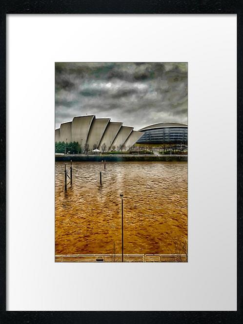 Glasgow Clydeside paint effect (3)  40cm x 30cm framed print or canvas pri