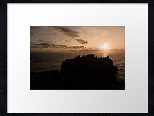 Dunnottar castle drone picture (1)  40cm x 30cm framed print or canvas pri