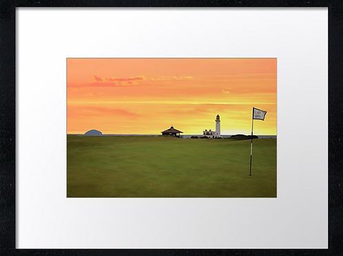 Turnberry golf course (3) 40cm x 30cm framed print or canvas print