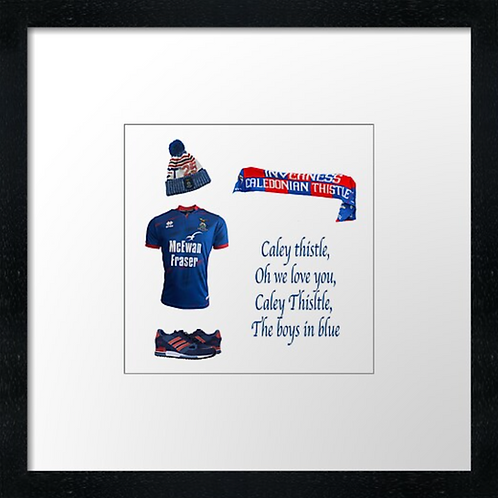"""Inverness Cally fc match ready (Example shown 10"""" Framed print £21.50)"""