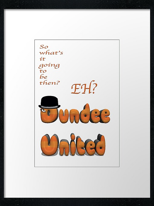 Dundee United (Clockwork Orange)  40cm x 30cm framed print or canvas print