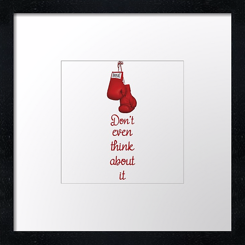 "Boxing (1) Example shown 10"" framed print £21.50"