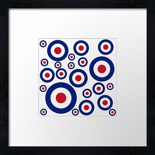 "Mod targets (2) Example shown 10"" framed print £21.50"