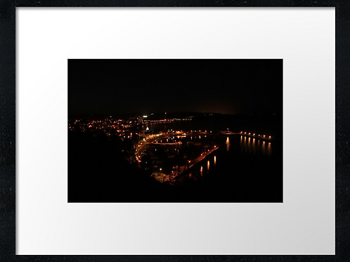 Stonehaven evening print or canvas print (Example shown 40cm x 30cm framed prin