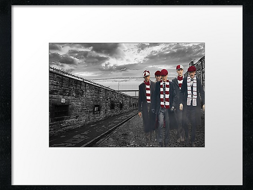 Hearts match day  Example shown 40cm x 30cm framed print or canvas print