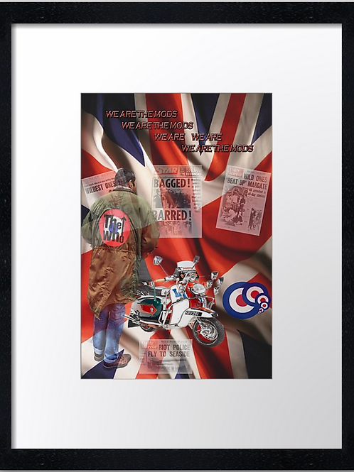 copy of Mods (2) 40cm x 30cm framed print, canvas print or A4, A3 mounted print