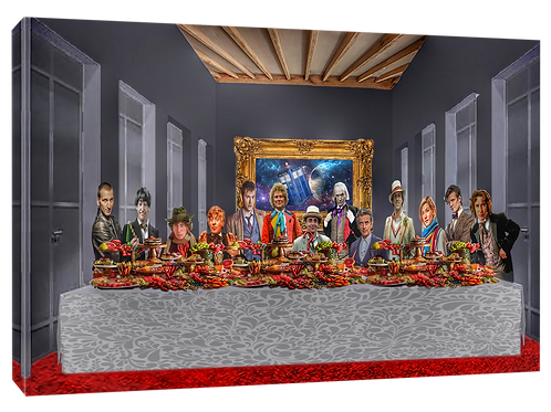 Dr Who Last supper (Vivid) print or canvas print (example shown 40cm