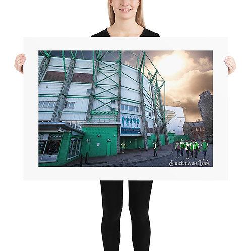Hibs Sunshine on Leith Poster