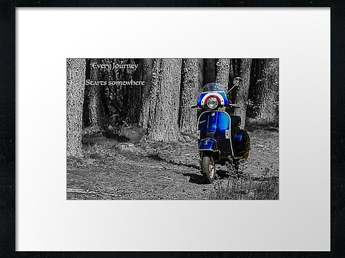 Every journey.... 40cm x 30cm framed print, canvas print or A4, A3 mounted pr