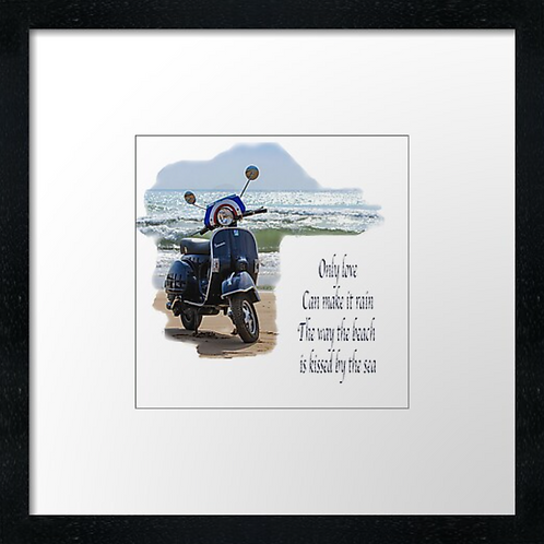 """Vespa, Love reign o'er m Print or canvas print Example shown is 10"""" Framed prin"""