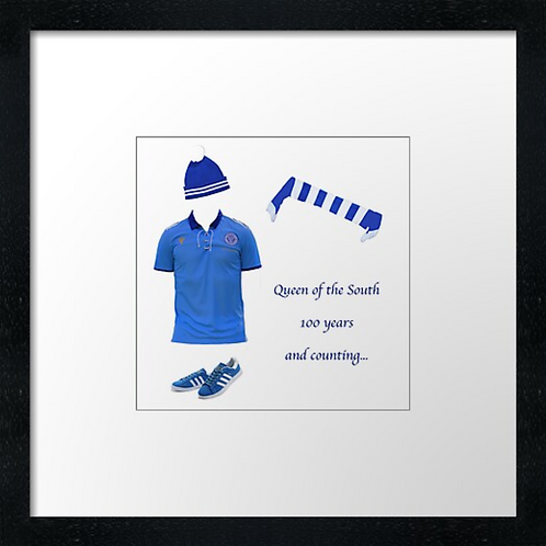 """Queen of the South fc match ready (Example shown 10"""" Framed print £21.50)"""