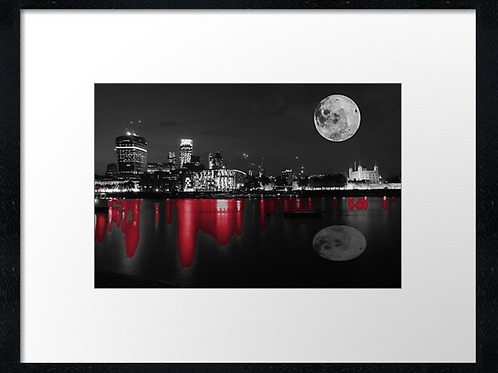 London (2) print or canvas print (example shown 40cm x 30cm framed print)
