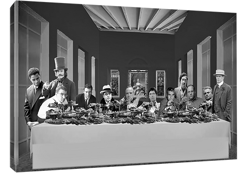 Mafia supper (4) print or canvas print (example shown 40cm x 30cm framed